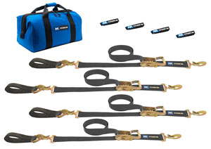 MAC'S CUSTOM STRAPS ULTRA PACK TIE DOWN STRAP KIT WITH DETACHABLE AXLE STRAPS